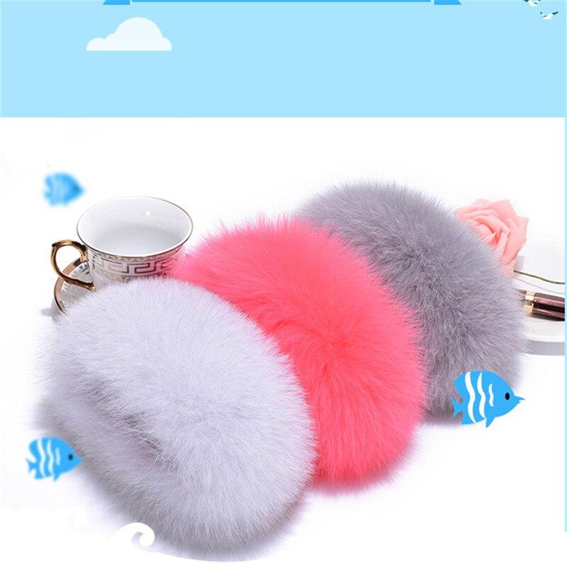 Ladies Really Fox Fur Cuffs Female 2019 Winter Fashion Fur Cuffs Ladies Bracelets Wristband Arms To Keep Warm