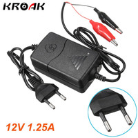 12V 1 25A Car Truck Motorcycle Smart Sealed Lead Acid Rechargeable Battery Charger EU Plug Smart