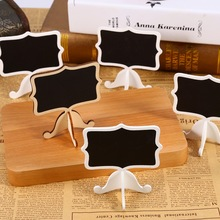 10Pcs/Pack Mini Lace Blackboard Chalkboard Wooden Blackboard Price Stand For New Year Party Christmas Wedding Decoration 2017