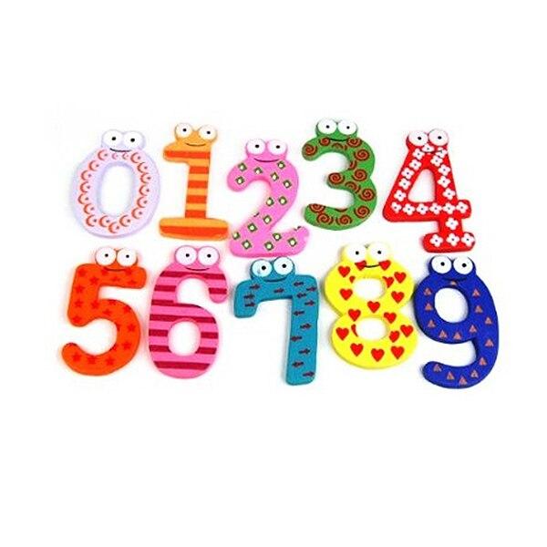Веселые Fun Красочные Магнитные цифры деревянные магниты на холодильник детские развивающие игрушки