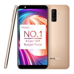 "Image 4 - Leagoo M9 5.5 ""18:9 Full Screen Vier Cams Android 7.0 MT6580A Quad Core 2 GB RAM 16 GB ROM 8.0MP Vingerafdruk 3G WCDMA Mobiele Telefoon"