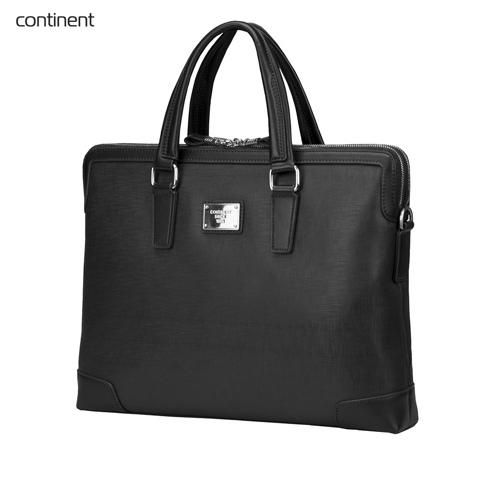 Laptop Bags & Cases Continent CONCM161BK for laptop portfolio Accessories Computer Office for male female coupon soild brown good leather zefer male handbag man laptop business office working briefcase shoulder bag metal lock letter