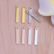 1pc hot selling Fashion trend earrings earrings pendants flowers long pendant 20mm copper strip hanging pieces