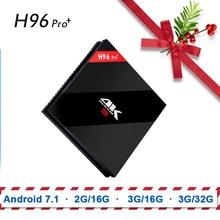 H96 PRO PLUS Box Smart TV Set Top Box Android 7.1 Amlogic 1G8G 2G16G S912 2.4 GHz Suporte WiFi 4 K Media Player HDMI 2.0