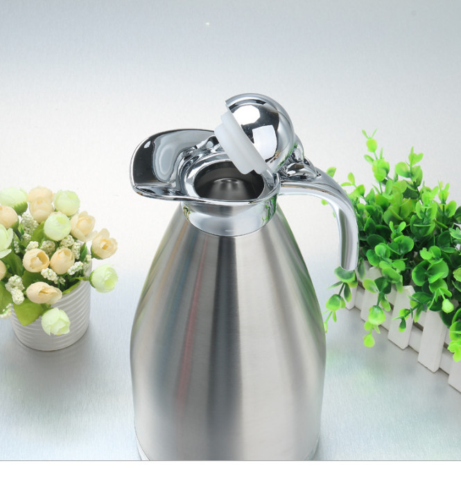 Stainless steel kettle double vacuum hot pot European domestic coffee pot cold water bottle 1 piece
