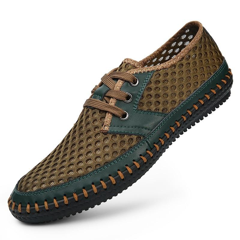 Men Sandals New 2018 Brand Genuine Leather Summer Mens Sandals Casual Breathable Handmade Men Shoes Fashion Sandales