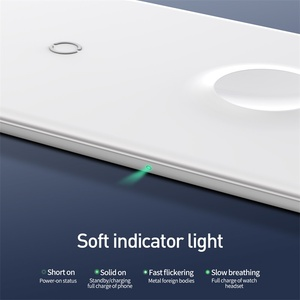 Image 5 - Baseus 3 в 1 Qi Беспроводное зарядное устройство для Apple Watch для iPhone XS X Samsung S10 10 Вт 3,0 Быстрая зарядка для i часов и наушников