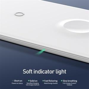 Image 5 - Baseus 3 in 1 Qi Caricatore Senza Fili Per Apple per il iPhone XS X Samsung S10 10W 3.0 Veloce di ricarica Per guardo e Cuffie