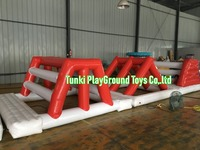 New design giant beach inflatable water park lake floating water games commercial aqua park