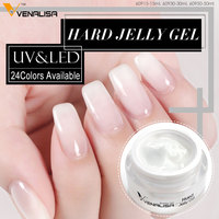 60950 Venalisa Uv Led CANNI Nail Art Design Transparent Color French Nails Camouflage Hard Jelly