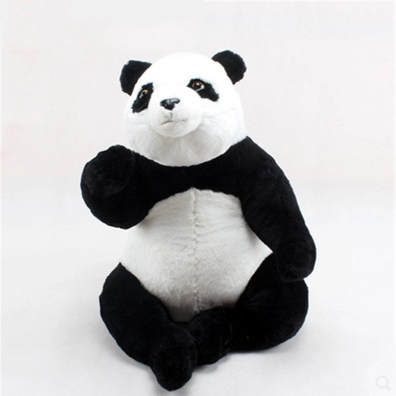 Fancytrader 60cm Big Cute Emulational Animal Panda Plush Toy 24'' Stuffed Simulated Realistic Pandas Doll Baby Gift 40cm 50cm cute panda plush toy simulation panda stuffed soft doll animal plush kids toys high quality children plush gift d72z