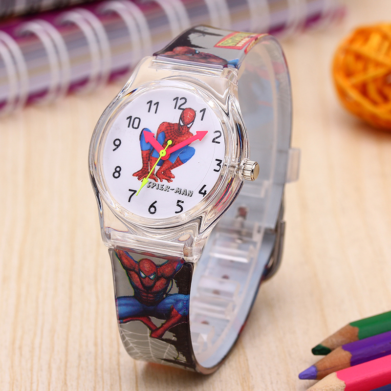 Boy Watch Timer Children Quartz Silicone Sports Cartoon Reloj Fashion Enfant Montre Transparent