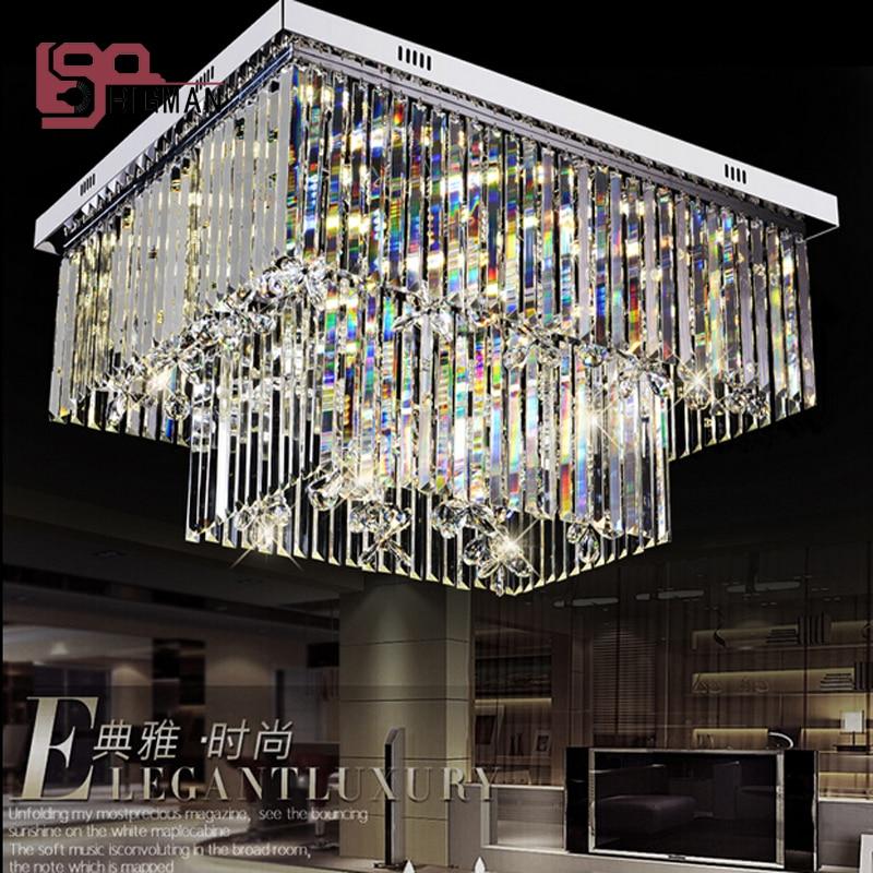 new design flush mount crystal chandeliers living room lamp modern home lighting