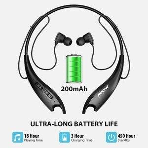 Image 4 - Mpow Jaws Gen 5 spor Bluetooth kulaklıklar 18 saat çalışma süresi V5.0 Bluetooth boyun bandı kulaklıklar gürültü iptal kablosuz kulaklık