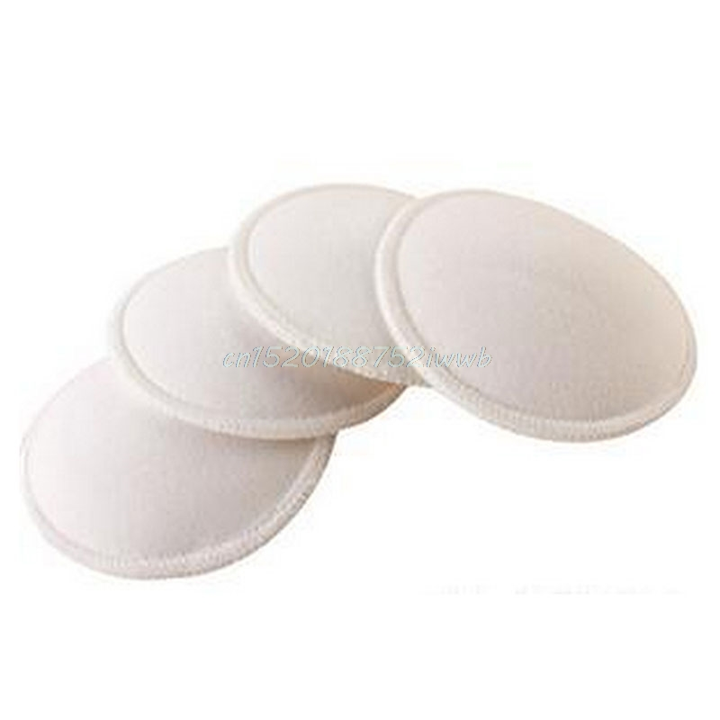 4pcs Soft Washable Reusable Breast Nursing Pad Absorbent Breastfeeding Absorbent Waterproof Stay Dry Cloth Pad#T026#
