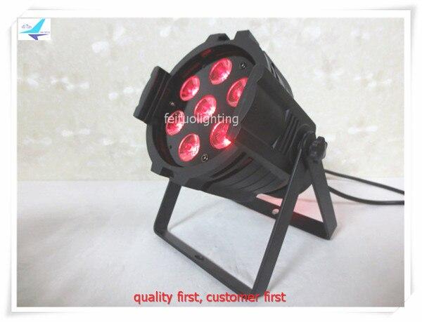 Hot Sell 4pcs/lot High Bright 7pcs LED 10W RGBW 4IN1 Mini Par Light Stage Lighting DMX Strobe Par Can Wash for DJ Disco Party