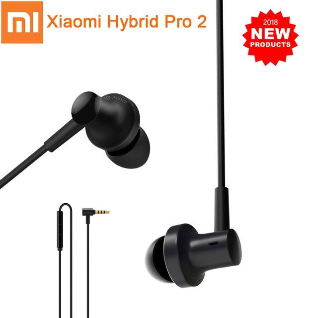 Original Xiaomi Hybrid Pro 2 Kopfhörer Mi In Ohr Kopfhörer 2 Dual Fahrer Hybrid Technologie Wired Steuerung Mit Mic