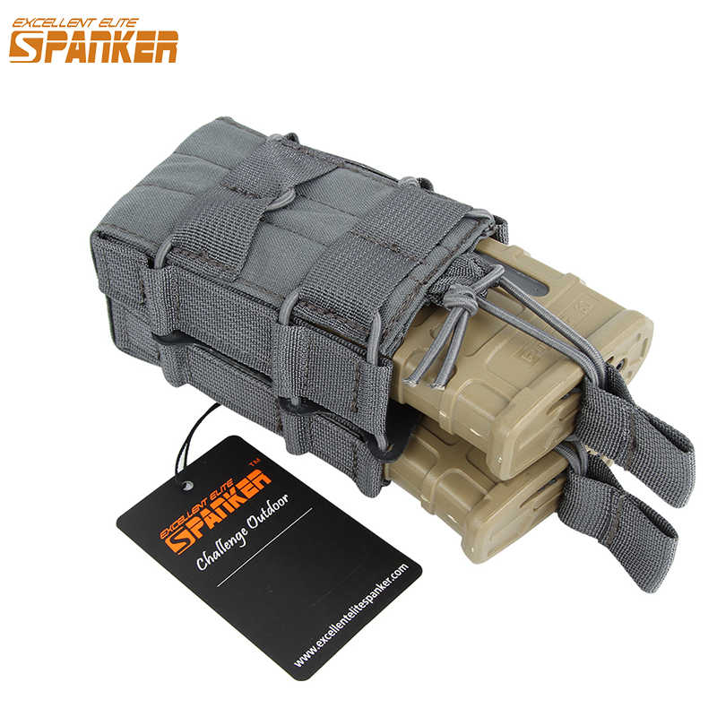 Uitstekende Elite Spanker Tactical Molle Double Open Top Mag Pouch Voor M4 M14 M16 AR15 G36 Magazine Pouch