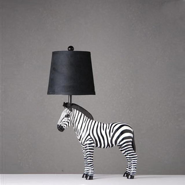 Captivating Cute Zebra Shaped Table Lamps Bedroom Bedside Table Lights Reading Desk  Lights For Living Room E27