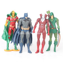 Deadman pçs/set 4 Super-heróis Da Liga Da Justiça Batman Arqueiro Verde PVC Action Figure Collectible Modelo Toy 14 CM OPP P721(China)