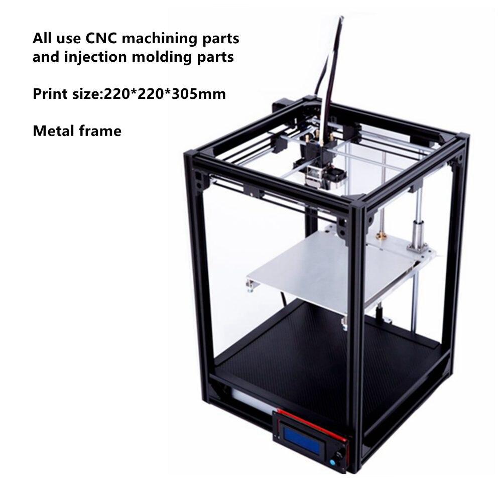 Бесплатная доставка 3D принтер Большие размеры 220*220*285 мм металл фюзеляжа высокое качество точность DIY Kit с ЖК-дисплей Ultimaker 2 cl-260