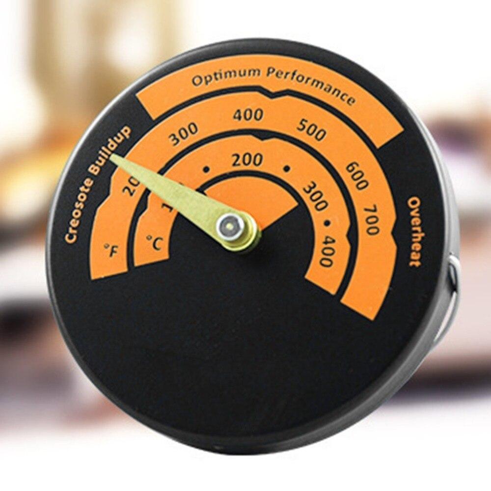 2 pcs Magnétique Poêle Thermomètre Four Température Mètre pour Gaz La Combustion Du Bois Pellet Éviter Poêles Ventilateur Endommagé par