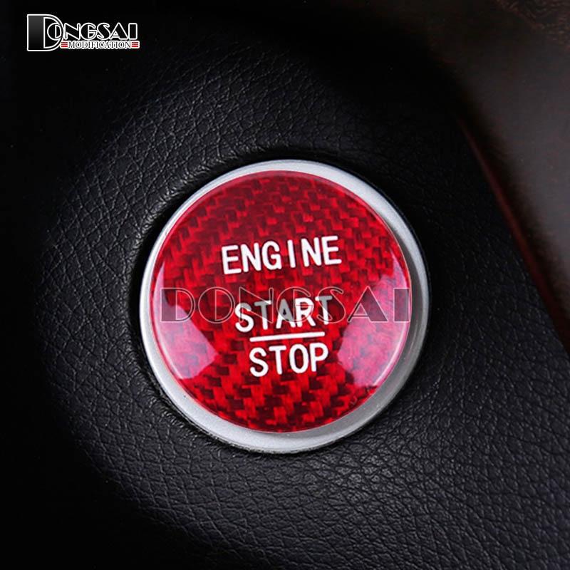 Carbon Fiber Engine Start Stop Button Cover For Mercedes Benz C GLA Class W205