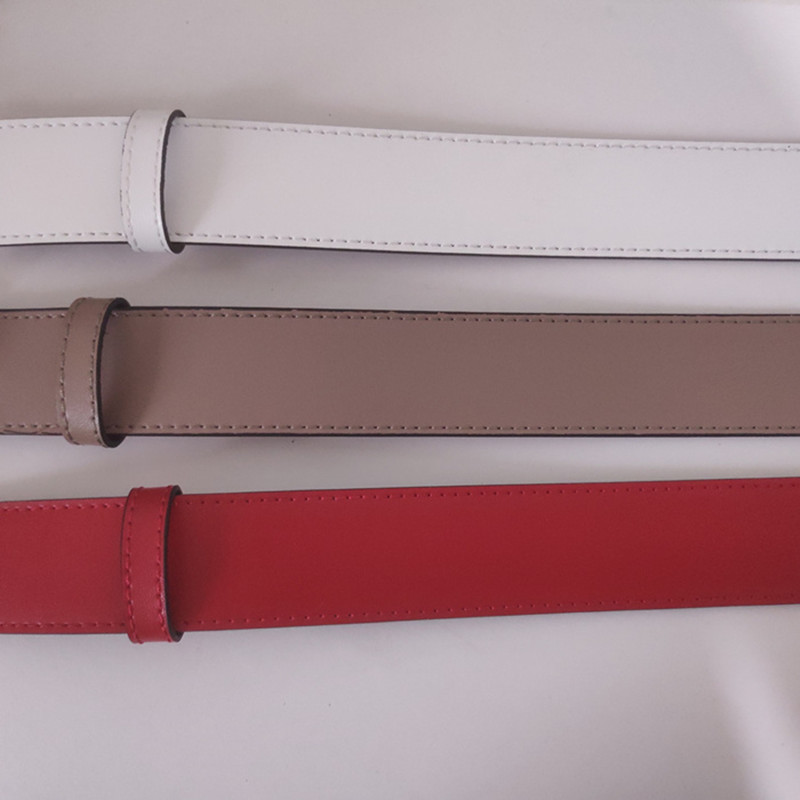 Luxury Designer Brand High Quality Women Genuine Real Leather   Belt   G Buckle Dress Red With Brown   Belts   Box 010