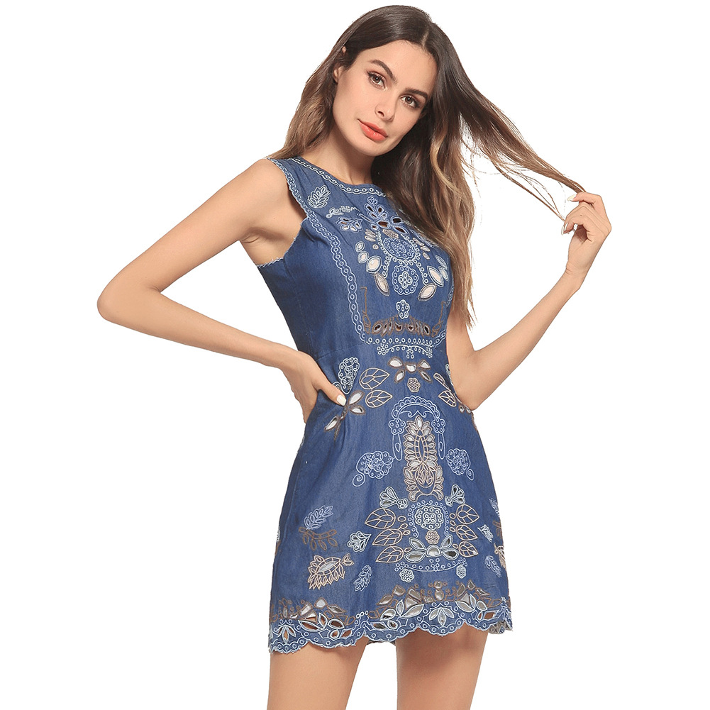 9b9b5be5487 2018 Plus Size Ukraine Zanzea Summer Dress Europe And New Ebay Explosion  Perspective Hollowed Slippery Skinny Jeans Sleeveless -in Dresses from  Women s ...