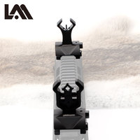 Lambul Model 4 AR 15 Adjustable Tactical Hunting Flip Up Front Rear Rapid Transition Backup Iron Sight Set for Picatinny Rail