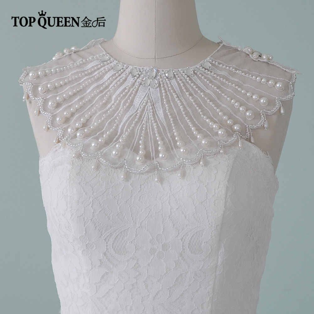TOPQUEEN G08 Wedding Sector Shawl Sparkly Beaded Wedding Wrap Tassel Gorgeous Bridal Cape African Women Special Event Shawl
