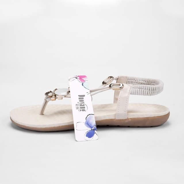 1540c2b85c56d 2018 fashion Women Sandals rhinestone Comfort inside summer 35 42 Women  flip flops shoes flat Beach Sandals-in Women's Sandals from Shoes on  Aliexpress.com ...