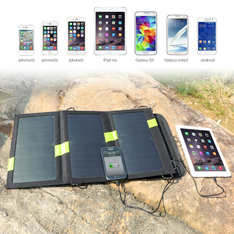 Foldable Portable Solar Panels Charger 5V 20W Solar Battery Solar Mobile Phone Charger For iPhone Samsung