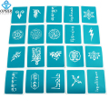 OPHIR 20PCS Henna Temporary Tattoo Templates Lotus and Tibetan Body Paint Stencils for Halloween Glitter Tattoo _STE004