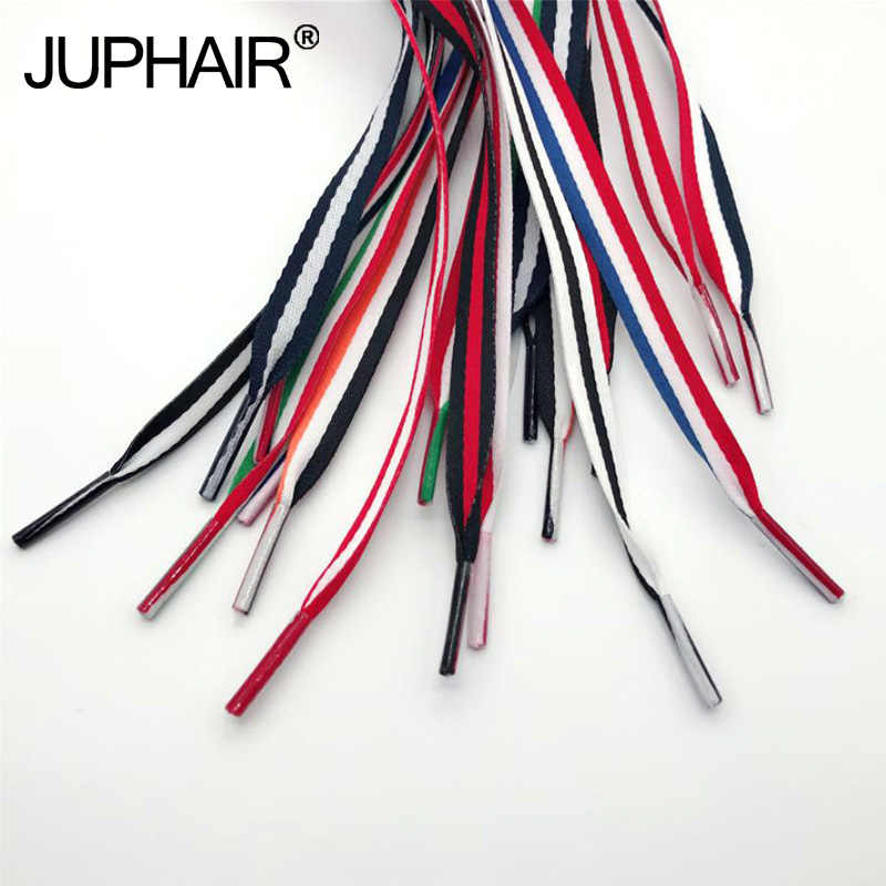 48a6a3dc89 1 Pair Canvas Shoes Color Decorating Pattern Colorful Shoelaces Flat Laces  Shoelaces Laces Red White Blue