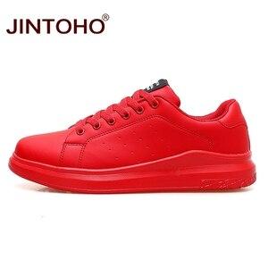 Image 4 - JINTOHO גדול גודל מותג אופנה מקרית עור נעלי גברים עור נעלי עור גברים סניקרס לבן זכר עור נעליים