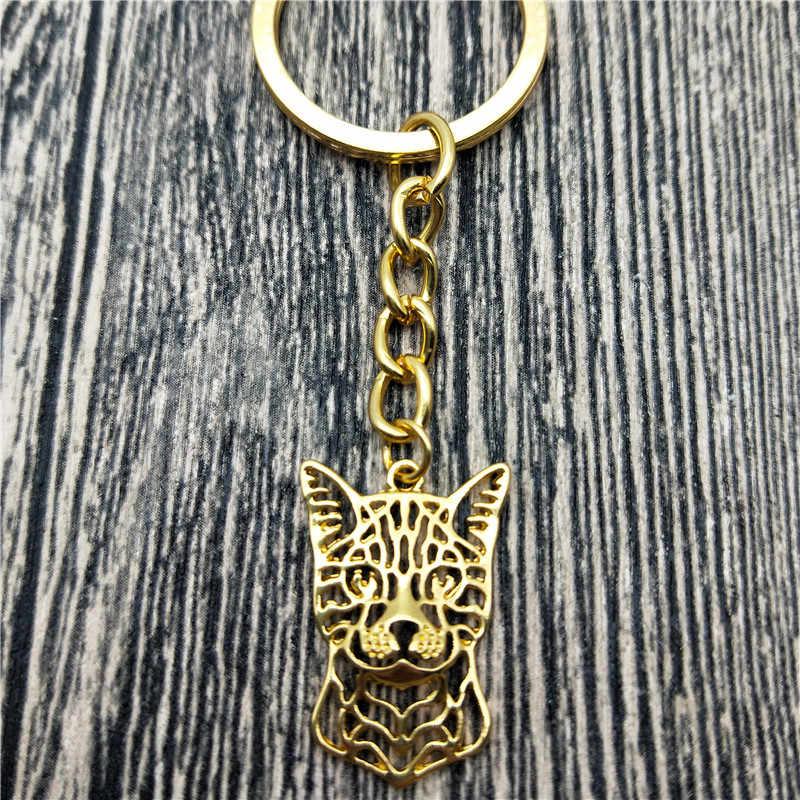 New Bengal Mèo Key Chains Thời Trang Pet Cát Đồ Trang Sức Hợp Thời Trang Bengal Cat Xe Keychain Túi Keyring Cho Phụ Nữ Người Đàn Ông