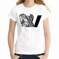 Новая женская футболка Викинги старый человек Рагнар Лодброк король крутой рисунок девушка футболка Harajuku уличная футболки топы