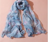 Character Butterfly Scarf Cotton Viscose Ladies Scarves Women Scarfs Fashionable Muslim Hijab 10pieces/lot 100*90cm