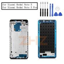 Para Xiaomi Redmi Nota 5 Pro Placa Quadro Do Meio LCD Apoio Mid Quadro Moldura Faceplate Habitação Reparação Substituição de Peças de Reposição