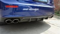 Carbon Fiber Car Rear Bumper Spoiler Lip, Auto Car Rear Bumper Diffuser Cover Fits For Maserati Ghibli 2014 2015 2016 2017