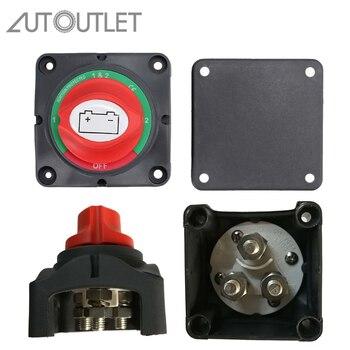 Aislador de batería Dual automa, interruptor marino de 4 posiciones, 300 Amp, 12V, interruptor de batería para barco, caravana marina, sistema Dual de aislamiento