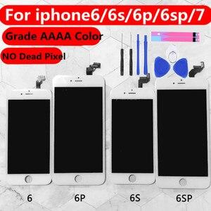 Image 1 - כיתה AAAA + + + + עבור iPhone 6 6S בתוספת 7 LCD עם 3D כוח מגע מסך Digitizer עצרת עבור iPhone 6 בתוספת תצוגה לא מת פיקסל