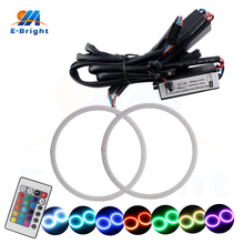 12V RGB COB Angel Eye Led Halo Rings 60mm 70mm 80mm 90mm 95mm 100mm 105mm 110mm 115mm 120mm 125mm 140mm with 24 Key Controller