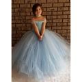 Голубой v-образный платье туту платье потрясающие синий блестящий девушки пачка платье принцессы туту дети платье для девочки PT214