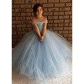 Luz azul em forma de V vestido Tutu vestido impressionante azul brilhante meninas Tutu vestido inspirado por princesa Tutu crianças vestido para menina PT214