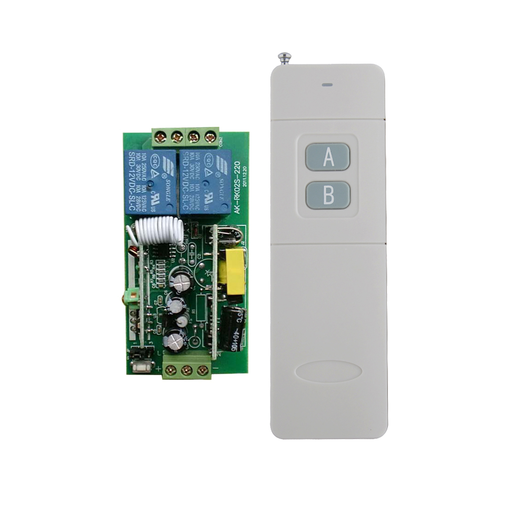 200--3000m AC85V 110V 220V 250V 2 channels wireless rf remote control switch remote control power lighting switch ac 250v 20a normal close 60c temperature control switch bimetal thermostat