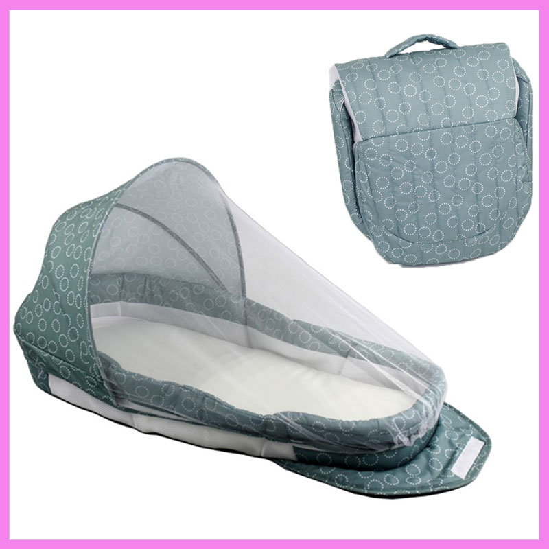Baby Foldable Crib Travel Portable Newborn Bed Sleeping Basket Bassinet Multifunctional Portable Baby Crib with Mosquito Netting cute baby crib 4pcs portable comfortable babies pad with sealed mosquito net mattress pillow mesh bag newborn sleep travel bed