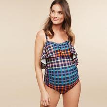 2019 Summer Ladies One-piece Swimsuit Maternity Tankinis Women Lattice Print Bikinis Beachwear Pregnant Suit