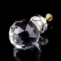 CNIM Hot 10 Pcs 20mm Glass Cabinet Knobs Drawer Pull Furniture Handle